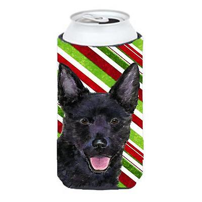 Australian Kelpie Candy Cane Holiday Christmas Tall Boy Hugger 22 To 24 oz.
