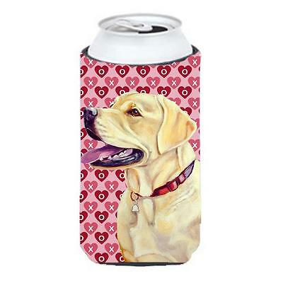 Labrador Hearts Love And Valentines Day Portrait Tall Boy bottle sleeve Hugge...