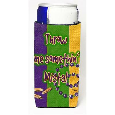 Mardi Grass Throw Me Something Mister Michelob Ultra bottle sleeves For Slim ...