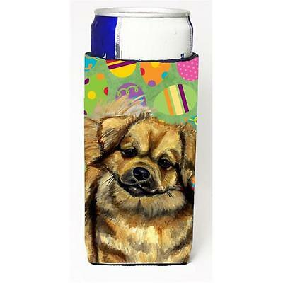 Tibetan Spaniel Easter Eggtravaganza Michelob Ultra s For Slim Cans 12 oz.