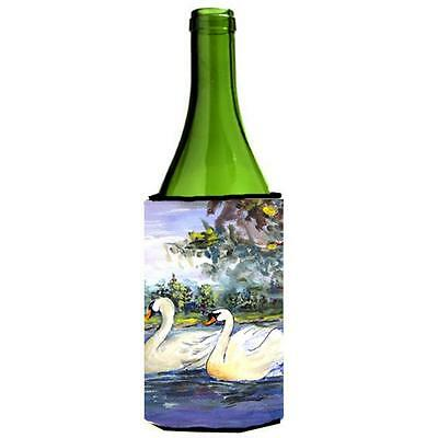 Carolines Treasures KR9039LITERK Bird Swan Wine bottle sleeve Hugger 24 oz.
