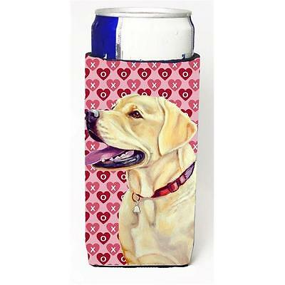 Labrador Hearts Love And Valentines Day Portrait Michelob Ultra bottle sleeve...