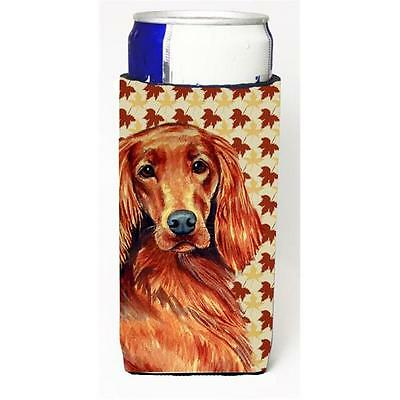 Irish Setter Fall Leaves Portrait Michelob Ultra s For Slim Cans 12 oz.
