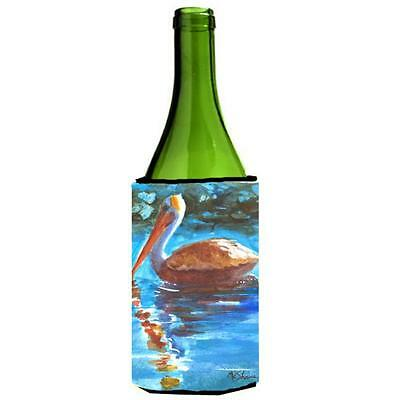 Carolines Treasures MM6064LITERK Bird Pelican Wine bottle sleeve Hugger 24 oz.