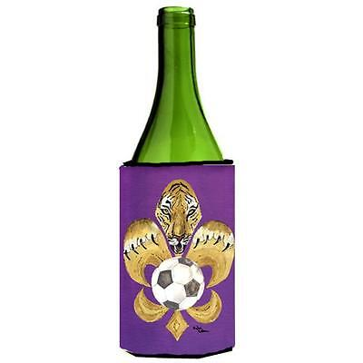 Carolines Treasures Tiger Fleur De Lis Soccer Wine bottle sleeve Hugger