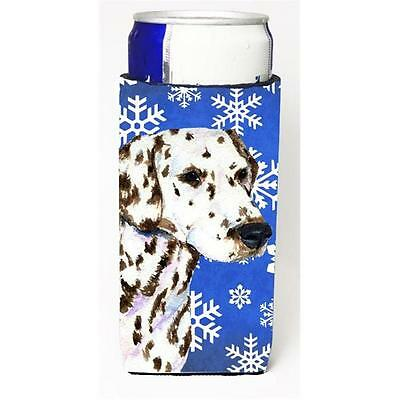 Dalmatian Winter Snowflakes Holiday Michelob Ultra bottle sleeve for Slim Can