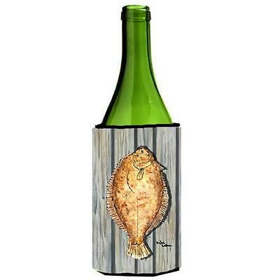 Carolines Treasures 8495LITERK Fish Flounder Wine bottle sleeve Hugger