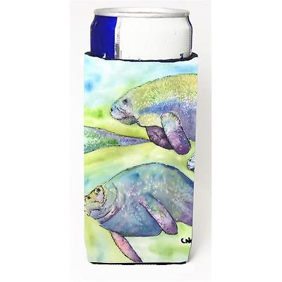 Carolines Treasures Manatee Michelob Ultra bottle sleeves for slim cans 12 oz.