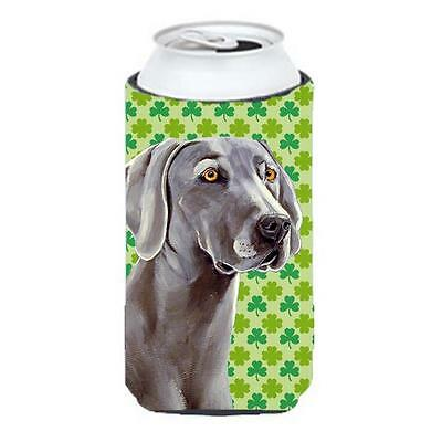 Weimaraner St. Patricks Day Shamrock Portrait Tall Boy bottle sleeve Hugger 2...