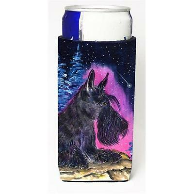 Starry Night Scottish Terrier Michelob Ultra bottle sleeves for slim cans 12 oz.