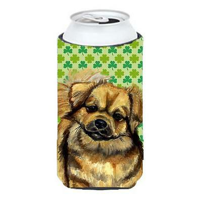 Tibetan Spaniel St. Patricks Day Shamrock Portrait Tall Boy bottle sleeve Hug... • AUD 47.47