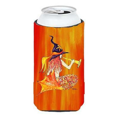 Mermaid In Witches Hat Halloween Tall Boy bottle sleeve Hugger 22 To 24 oz.