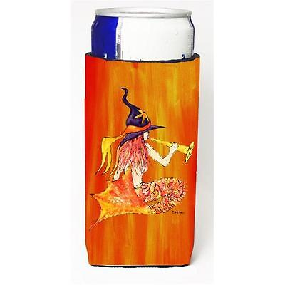 Mermaid in Witches Hat Halloween Michelob Ultra bottle sleeves for slim cans ...