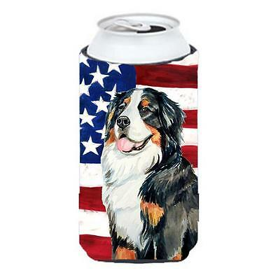 Usa American Flag With Bernese Mountain Dog Tall Boy bottle sleeve Hugger