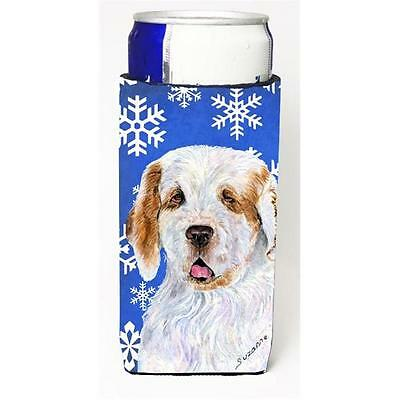 Clumber Spaniel Winter Snowflakes Holiday Michelob Ultra bottle sleeves for s...