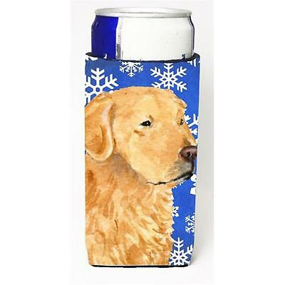 Golden Retriever Winter Snowflakes Holiday Michelob Ultra bottle sleeve for S...