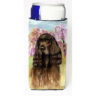 Carolines Treasures Field Spaniel Michelob Ultra bottle sleeve for Slim Can
