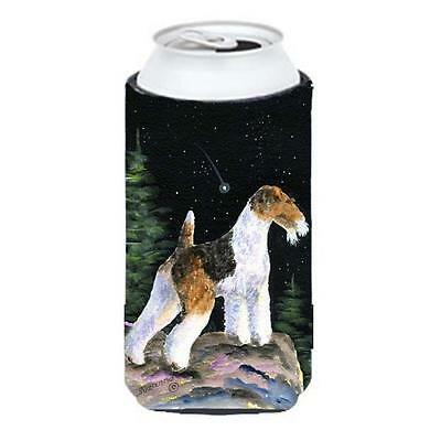 Starry Night Fox Terrier Tall Boy bottle sleeve Hugger 22 To 24 oz. • AUD 47.47