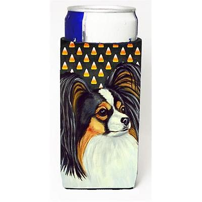 Papillon Candy Corn Halloween Portrait Michelob Ultra bottle sleeves For Slim...