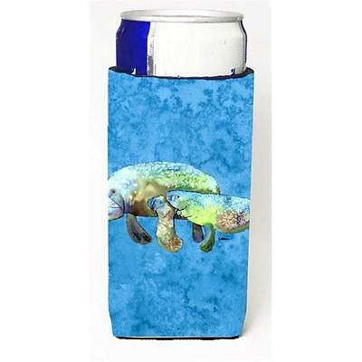 Manatee Momma And Baby Michelob Ultra bottle sleeves For Slim Cans 12 oz.