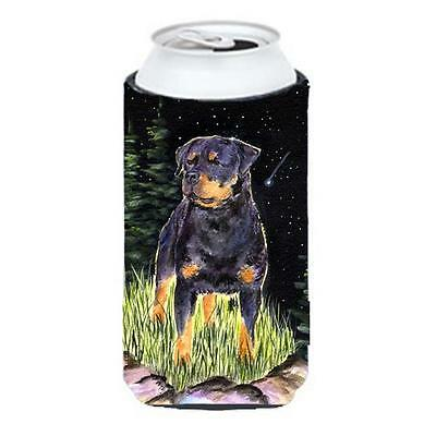 Starry Night Rottweiler Tall Boy bottle sleeve Hugger 22 To 24 oz.