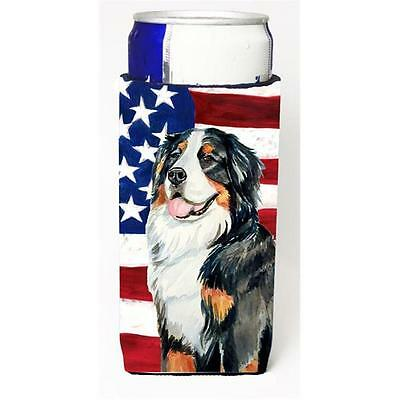 USA American Flag with Bernese Mountain Dog Michelob Ultra bottle sleeves for...