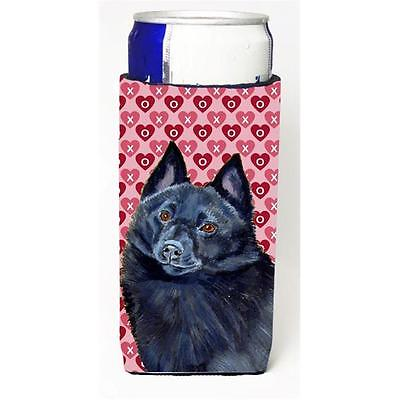 Schipperke Hearts Love And Valentines Day Portrait Michelob Ultra bottle slee...