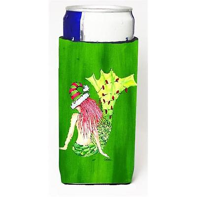 Christmas Mermaid In Lights Michelob Ultra bottle sleeves For Slim Cans 12 oz.