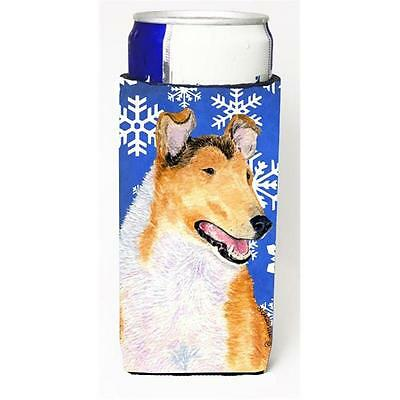 Collie Smooth Winter Snowflakes Holiday Michelob Ultra for Slim Can