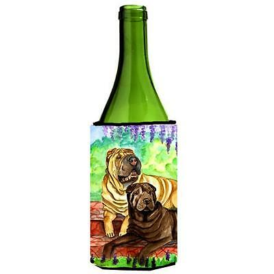 Carolines Treasures Shar Pei Fawn and Chocolate Wine bottle sleeve Hugger 24 oz.