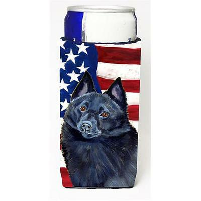 USA American Flag with Schipperke Michelob Ultra bottle sleeves for slim cans...