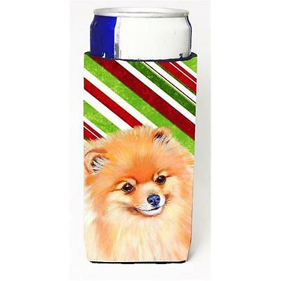 Pomeranian Candy Cane Holiday Christmas Michelob Ultra bottle sleeves For Sli...