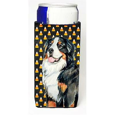 Bernese Mountain Dog Candy Corn Halloween Portrait Michelob Ultra bottle slee...