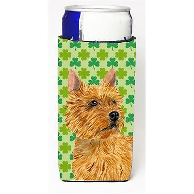 Norwich Terrier St. Patricks Day Shamrock Portrait Michelob Ultra bottle slee...