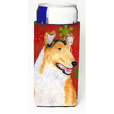 Collie Smooth Red Green Snowflakes Christmas Michelob Ultra bottle sleeves Fo...