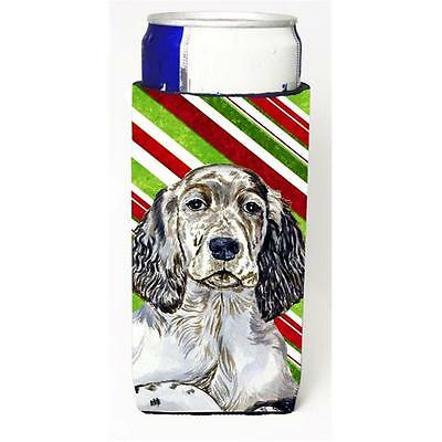 English Setter Candy Cane Holiday Christmas Michelob Ultra bottle sleeves For...