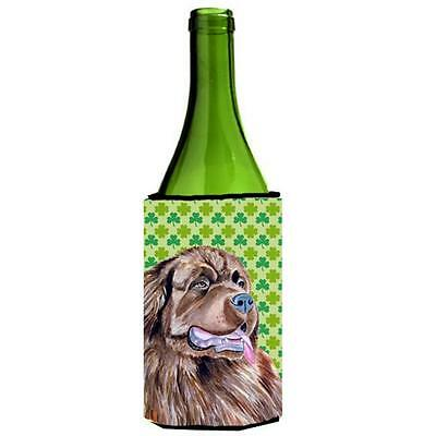Newfoundland St. Patricks Day Shamrock Portrait Wine bottle sleeve Hugger