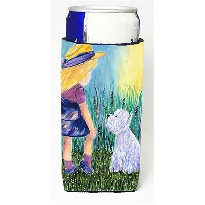 Little Girl With Westie Michelob Ultra bottle sleeves For Slim Cans 12 oz.
