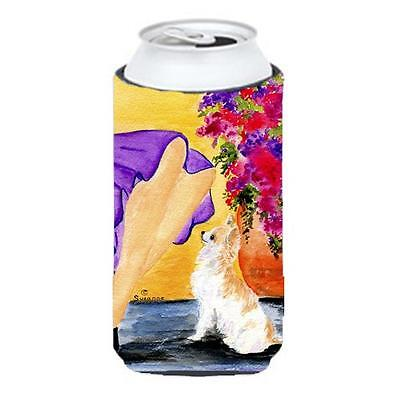Lady With Her Chihuahua Tall Boy bottle sleeve Hugger 22 To 24 oz.