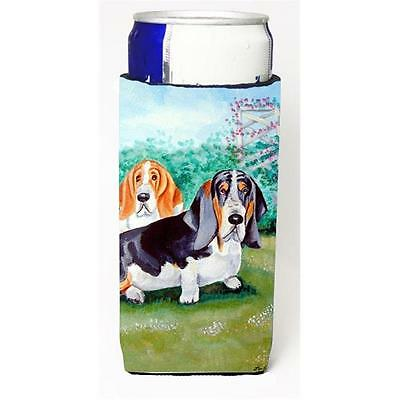 Basset Hound Double Trouble Michelob Ultra bottle sleeves for slim cans 12 oz.