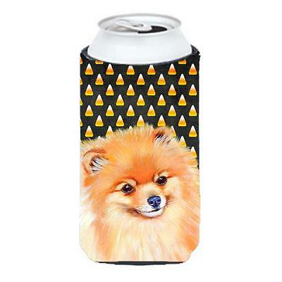 Pomeranian Candy Corn Halloween Portrait Tall Boy bottle sleeve Hugger 22 To ...