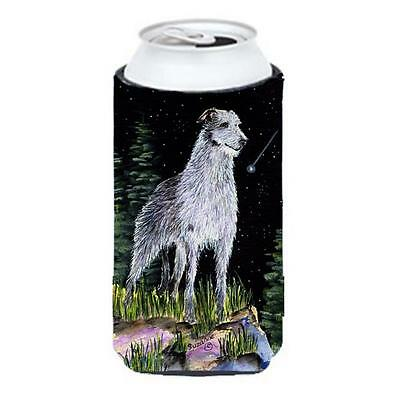 Starry Night Scottish Deerhound Tall Boy bottle sleeve Hugger 22 To 24 oz.