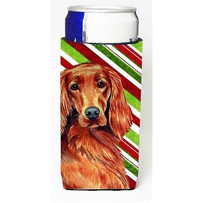 Irish Setter Candy Cane Holiday Christmas Michelob Ultra bottle sleeves For S...