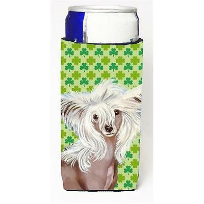 Chinese Crested St. Patricks Day Shamrock Portrait Michelob Ultra bottle slee...