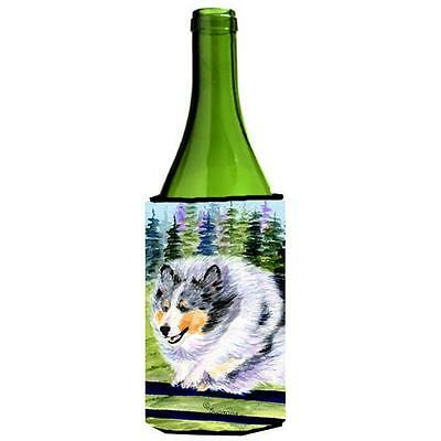 Carolines Treasures SS8305LITERK Sheltie Wine bottle sleeve Hugger 24 oz.