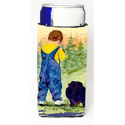 Little Boy With His Pomeranian Michelob Ultra bottle sleeves For Slim Cans 12...