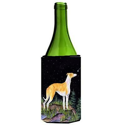 Carolines Treasures Starry Night Whippet Wine bottle sleeve Hugger 24 oz.