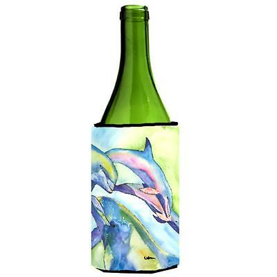 Carolines Treasures 8548LITERK Dolphin Wine bottle sleeve Hugger 24 oz.