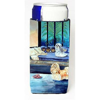 Shih Tzu Double Trouble Michelob Ultra bottle sleeves For Slim Cans 12 oz.