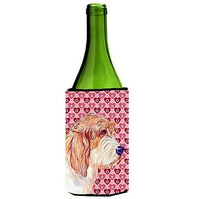 Petit Basset Griffon Vendeen Hearts Valentines Day Wine bottle sleeve Hugger